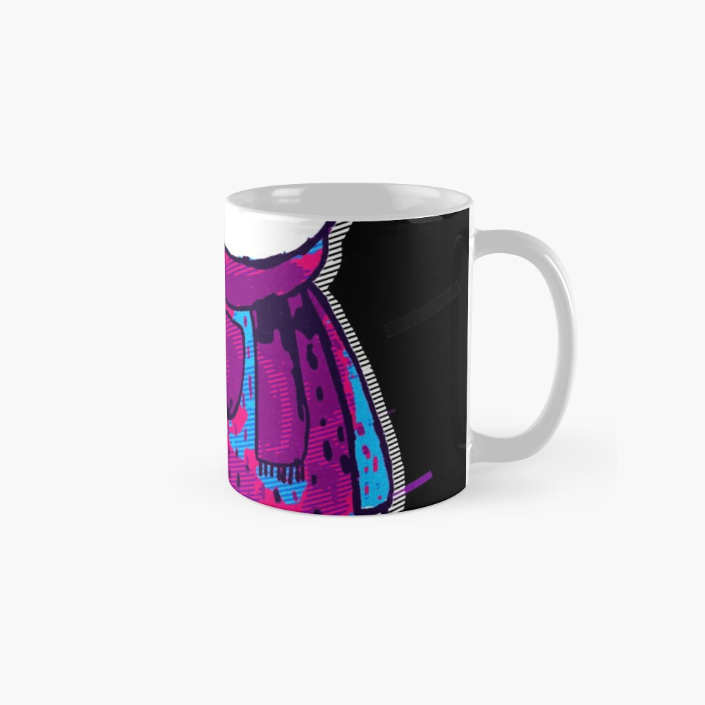 Polar bear cute bear Eighties Retro Violet and Purple Taza