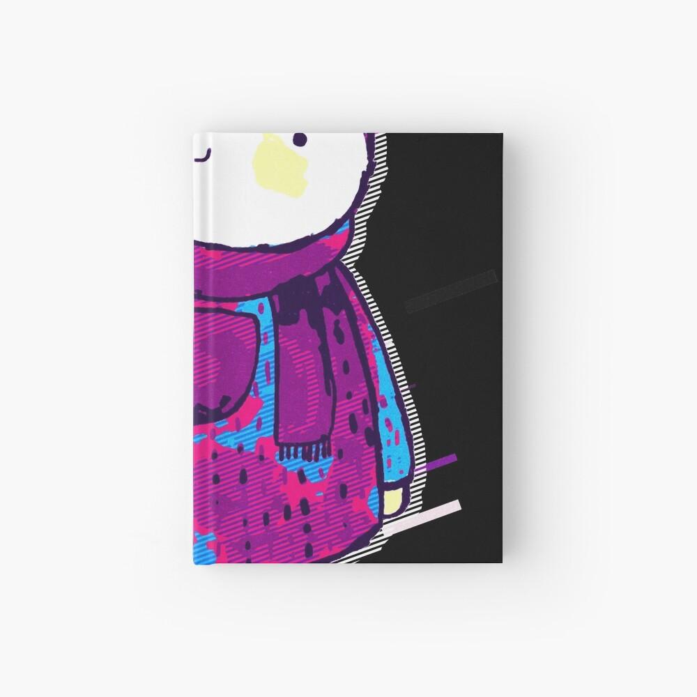 Polar bear cute bear Eighties Retro Violet and Purple Cuaderno de tapa dura