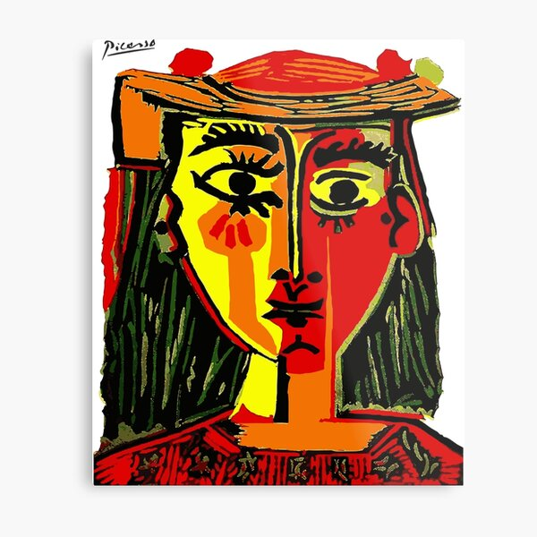 Pablo Picasso Woman In A Hat 1962 T Shirt, Artwork, tshirt, tee, jersey, poster, artwork Metal Print