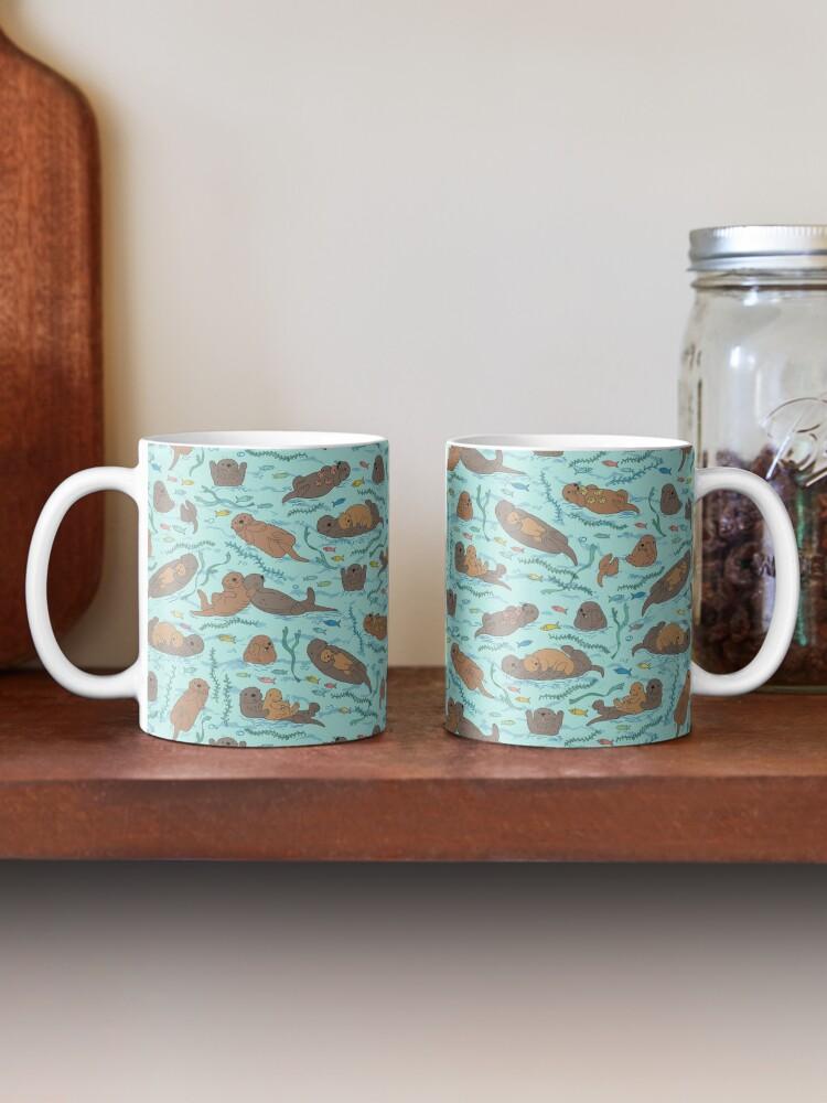 Alternate view of Sea Otters - cute animal pattern by Cecca Designs Mug