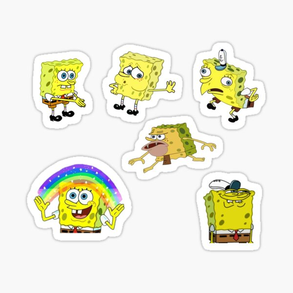 Spongebob Meme Sheet 6 Pack Pegatina
