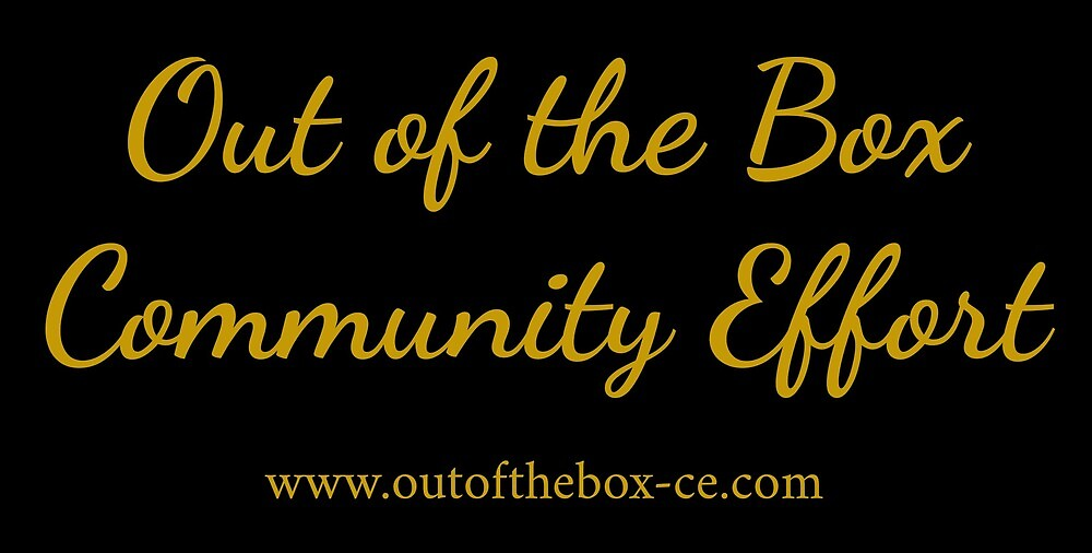 Out of the Box Community Effort by outoftheboxbook
