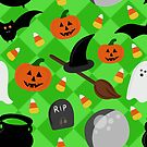 Seamless Halloween Design by Pamela Maxwell