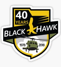 UH-60 Black Hawk Celebrating 40 Years Sticker