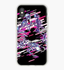 Skeleton human Eighties Retro Violet and Purple iPhone Case