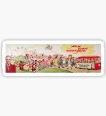 Mister Rogers' Neighborhood Vintage Cast Poster Sticker