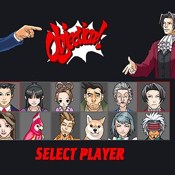 Player Select: Ace Attorney by LunaHarker