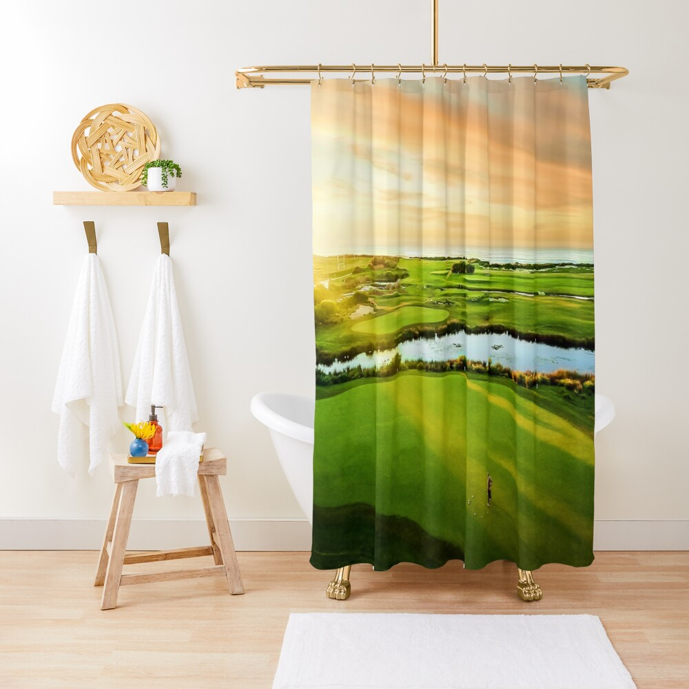 Golfing the Gong - Grand Vista Shower Curtain