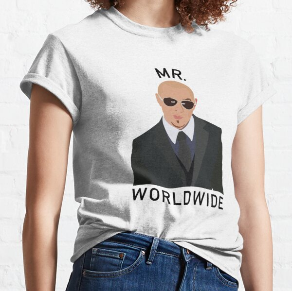 Pitbull Mr Worldwide Camiseta clásica