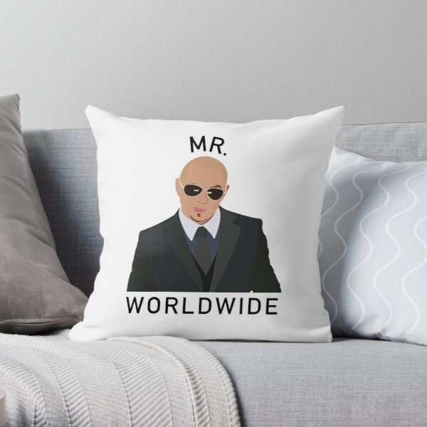 Pitbull Mr Worldwide Cojín