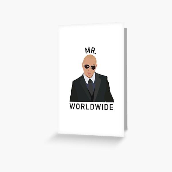 Pitbull Mr Worldwide Greeting Card