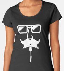 Funny Oktoberfest White Mustache Women's Premium T-Shirt