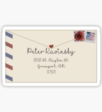 To All The Boys I've Loved Before- Peter's Letter Sticker