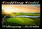 Golfing Gold (on black) by Ray Warren