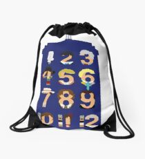 The Number Who Drawstring Bag