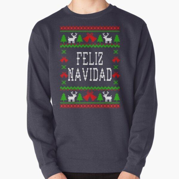Feliz Navidad - Ugly Christmas Sweater Style Pullover Sweatshirt