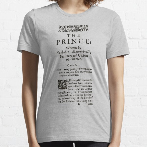 The Prince Niccolo Machiavelli First Page Essential T-Shirt