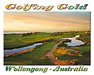Golfing Gold II (on white) by Ray Warren
