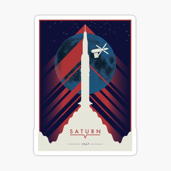 Saturn V Sticker