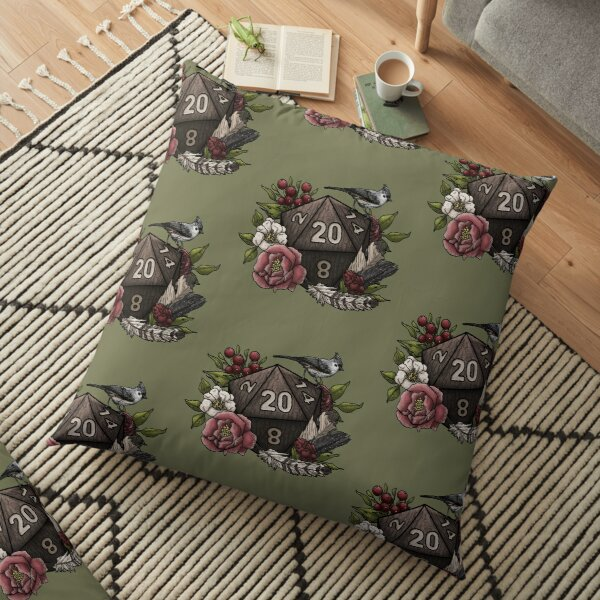 Druid Class D20 - Tabletop Gaming Dice Floor Pillow
