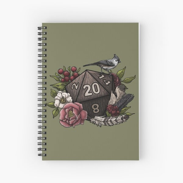 Druid Class D20 - Tabletop Gaming Dice Spiral Notebook