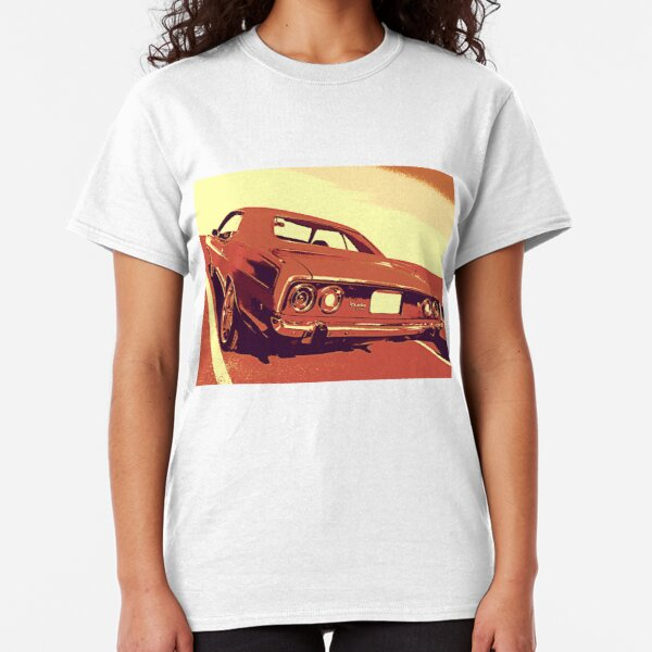 2005 Red Chrysler Crossfire Convertibe HotRod Sun Set T-Shirt 05 Muscle Car Tees
