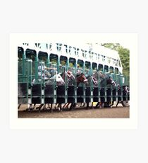 ... and they're off! - Saratoga Race Course NY Art Print