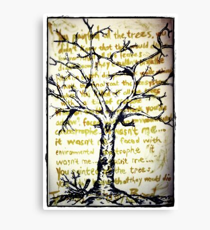Treeology Canvas Print