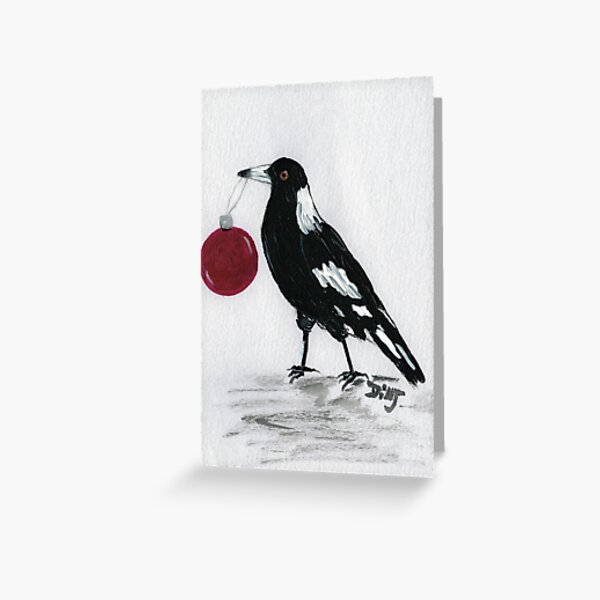 Magpie Christmas  Greeting Card