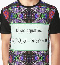 Dirac equation, #Dirac, #equation, #DiracEquation, Physics, #Physics, Modish, original, ingenious, novel, own, individual, unorthodox, refined Graphic T-Shirt