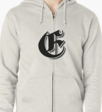 """""""Fifth Letter"""" (Olde English) Zipped Hoodie"""