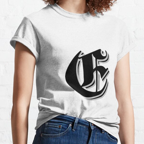 """Fifth Letter"" (Olde English) Classic T-Shirt"