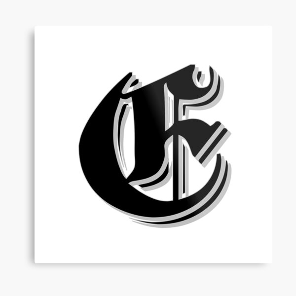 """""""Fifth Letter"""" (Olde English) Metal Print"""