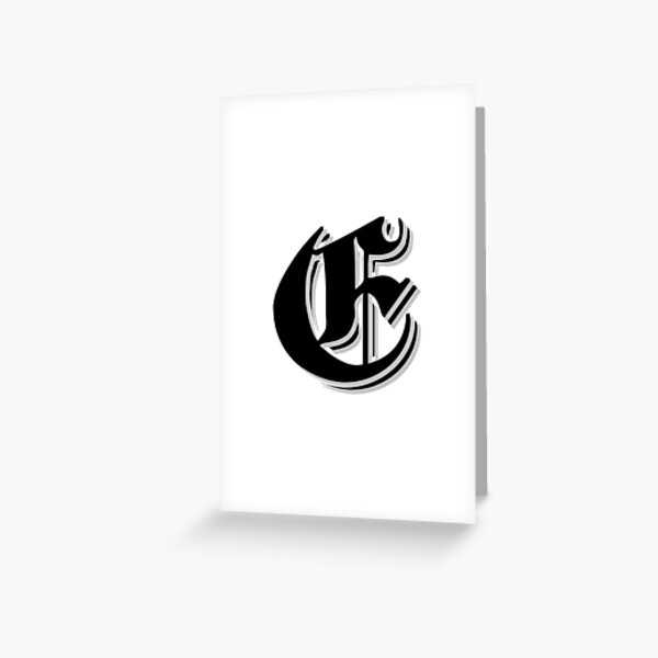 """Fifth Letter"" (Olde English) Greeting Card"