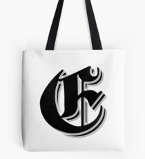 """Fifth Letter"" (Olde English) Tote Bag"