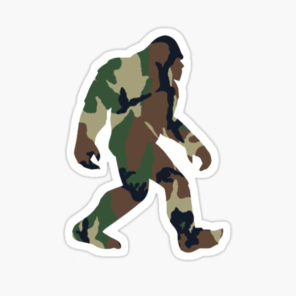 Bigfoot Sticker Camo Sasquatch Stickers Sticker