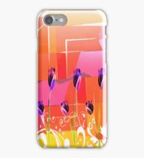 Purple Tulips Retro iPhone Case/Skin