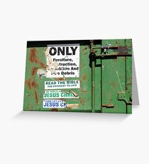 Dumpster Evangelism Greeting Card