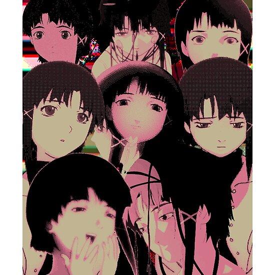 Lain Anime Girl Face Compilation Sad Japanese Anime Aesthetic