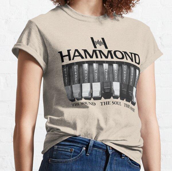 Logotipo y gráficos de Hammond Organ Camiseta clásica