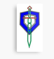 Celtic Knot Sword and Shield Metal Print