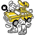 Taxi Guy Cartoon Taxi Driver by scooterbaby