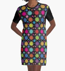 Psychedelic Pattern  Graphic T-Shirt Dress