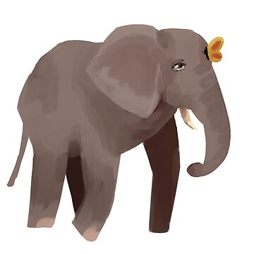 Elephant and Butterfly by jurner