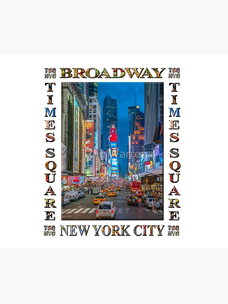 Times Square & Broadway (poster on white) by RayW
