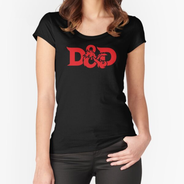 Dungeons and Dragons logo Fitted Scoop T-Shirt