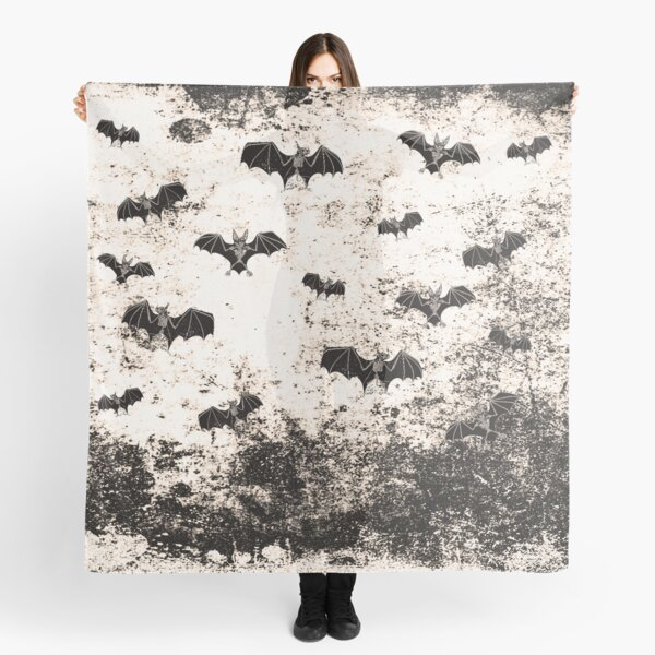 Vintage Halloween Bat pattern Scarf