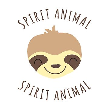 Spirit Animal | Kawaii Sloth Face by CarlosAlberto