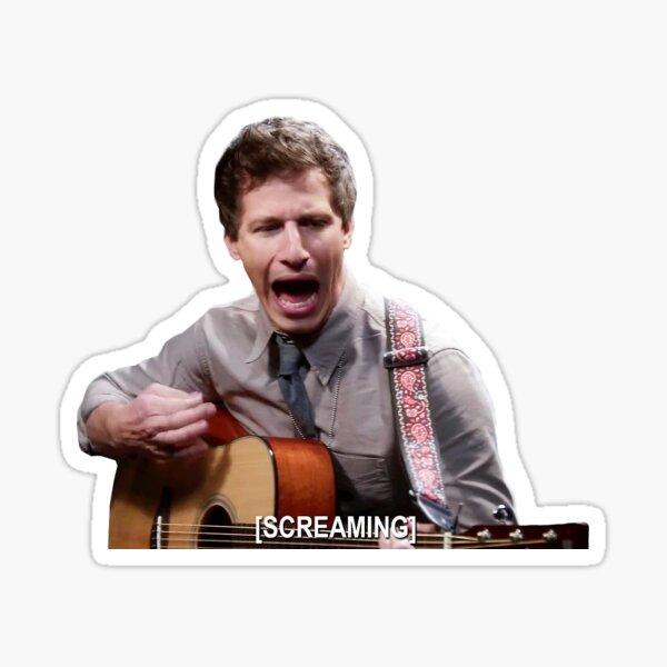 Jake Paralta - Screaming Sticker