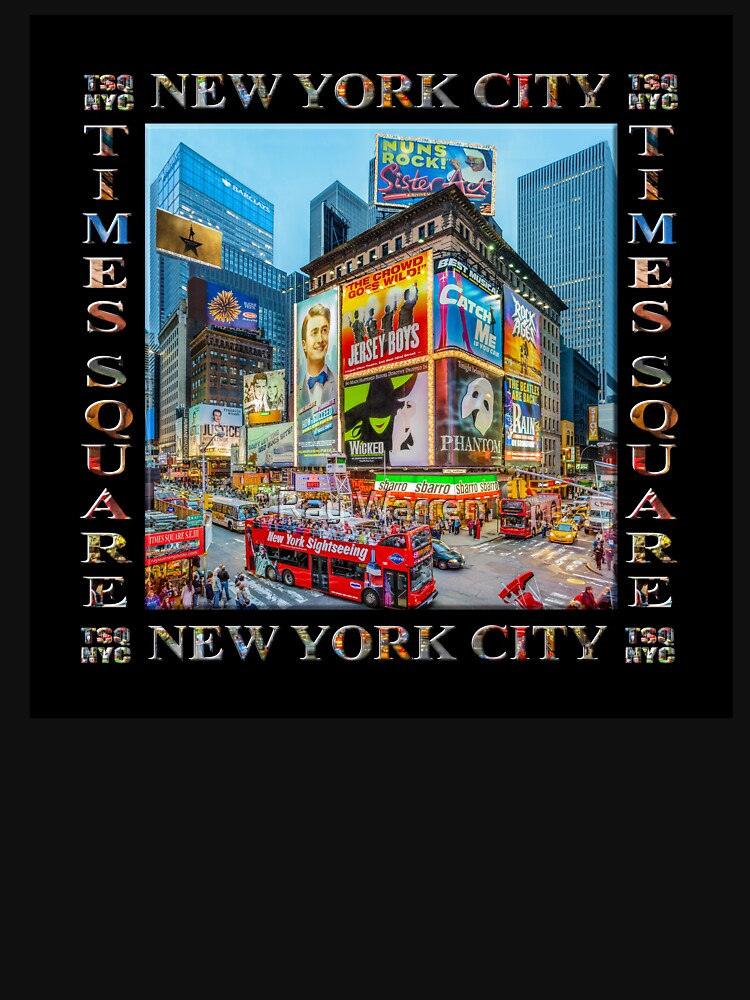Times Square III Special Finale Edition Titled Poster II (on black) by RayW